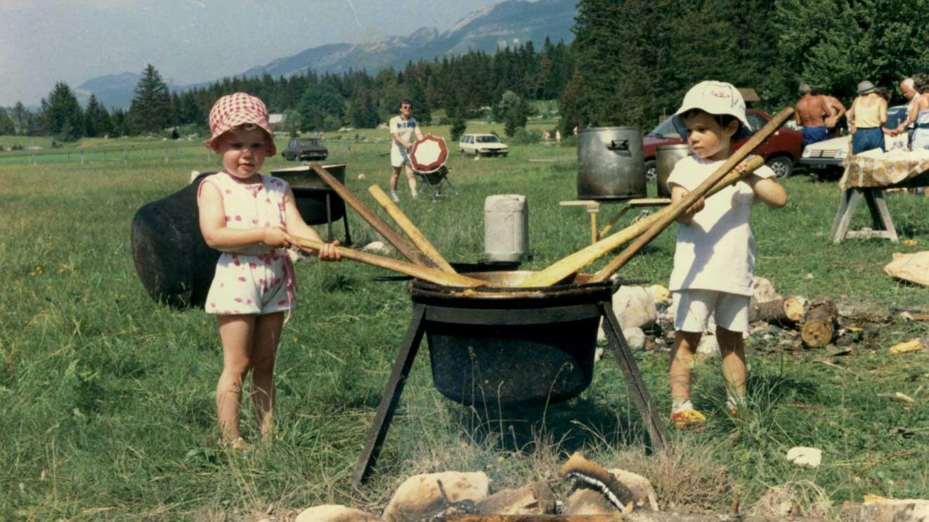 1986 - alla Baita Trentina si comincia presto a