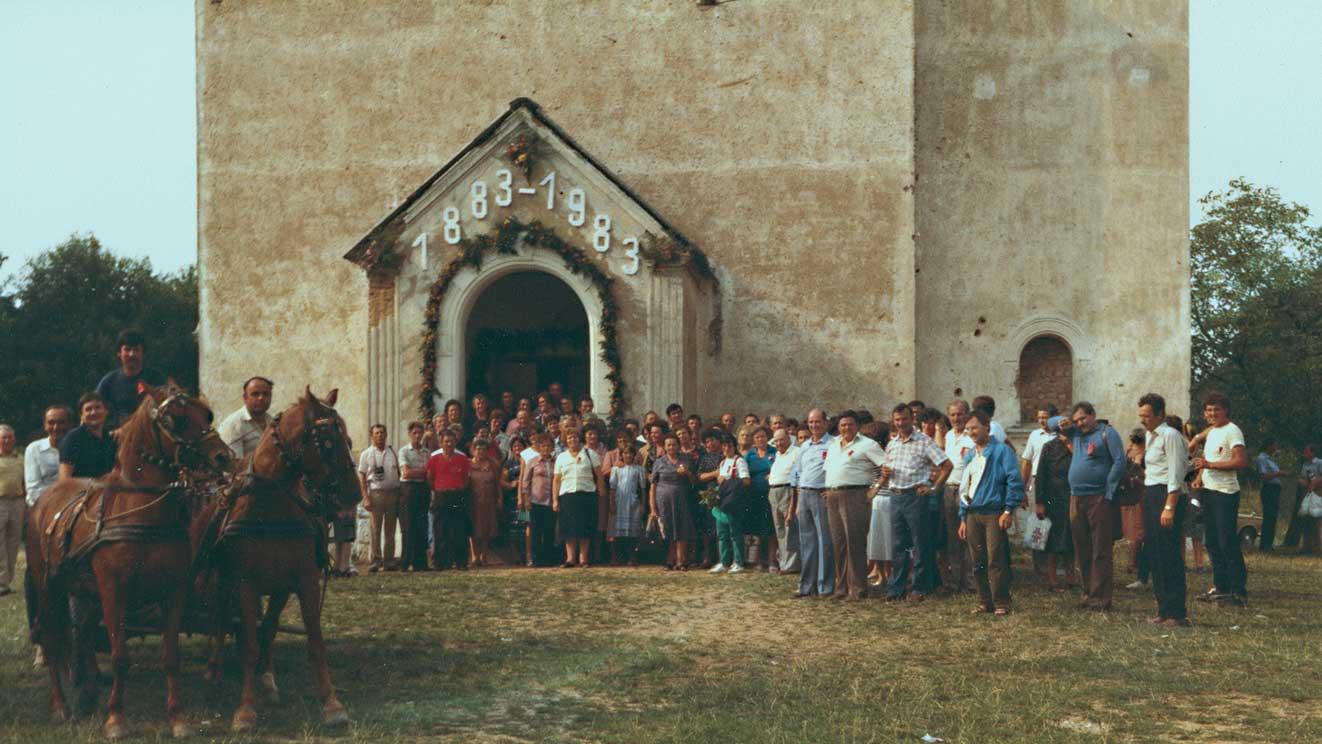 1983 - il Circolo celebra a Mahovljani il centenario dell'emigrazione in Bosnia