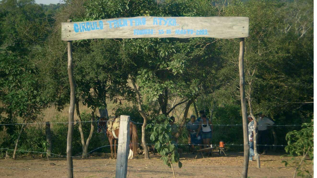 Appezzamento di terra acquistato dai soci per costruire la propria sede
