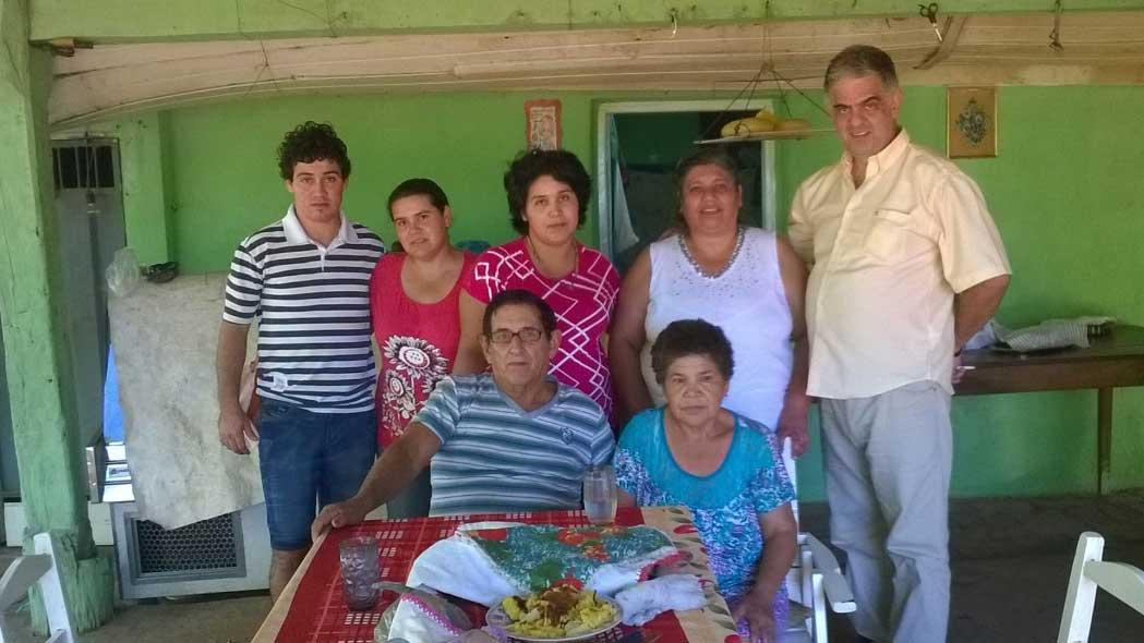 2015 - visita del coordinatore A. Gianotti al Circolo - famiglia della presidente Gladys Libardi