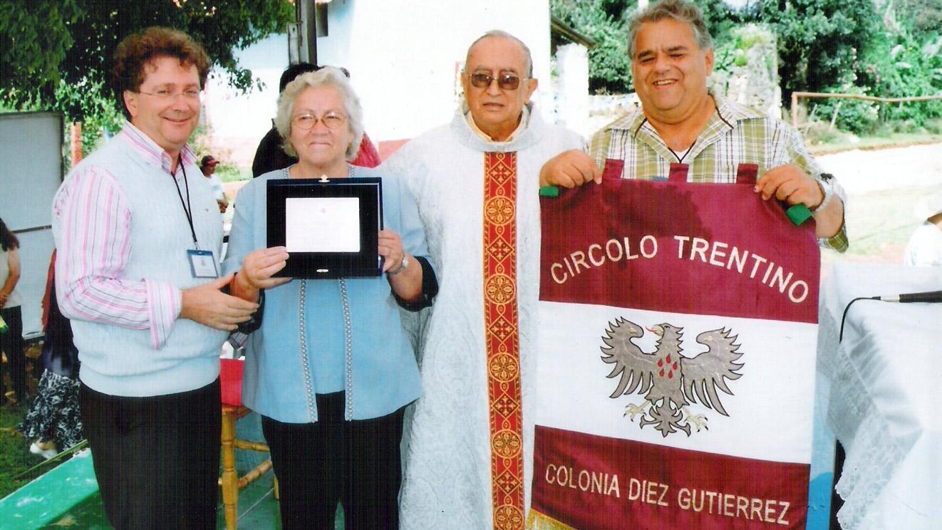 Targa in memoria di Pedro Chessani Zanella - Rino Zandonai, Virginia Zanella, Padre, Rene Altschuler